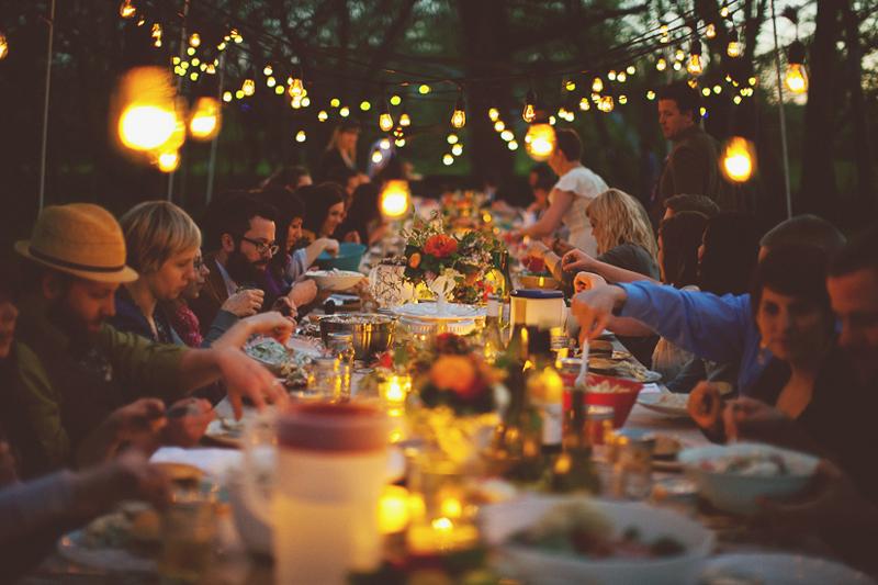family dinner for event portfolio