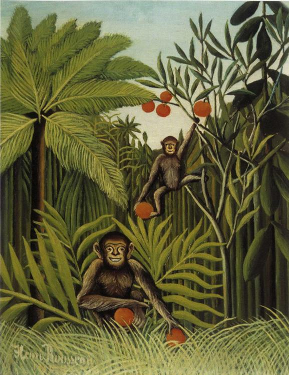 Rousseau-two-monkeys-in-the-jungle