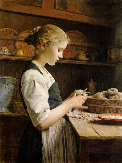 Peeling-potatoes-samuel-albert-anker